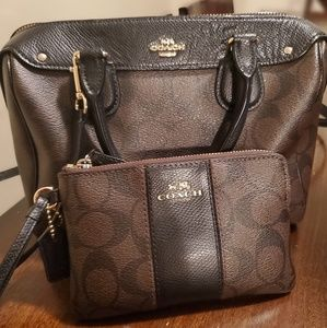 Coach bag and wrist wallet